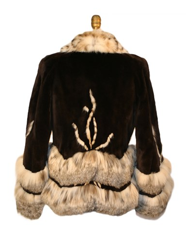 Sheared Beaver Fur w/ Lynx Trim Jacket