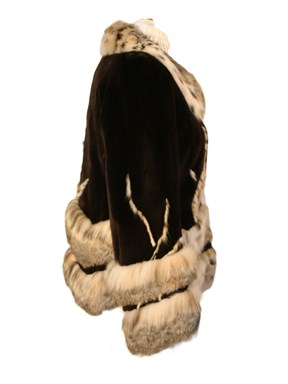 Sheared Beaver Fur w/ Lynx Trim Jacket