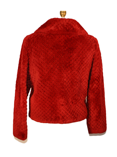 Red Sheared Beaver Fur Jacket