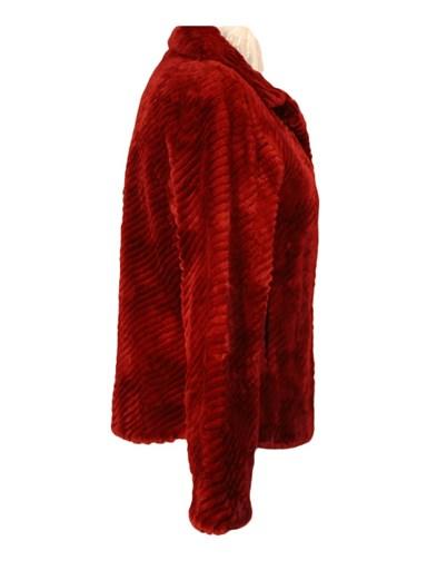 Ribbed Sheared Beaver Fur Jacket