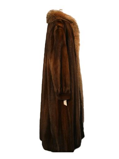 Lunaraine Mink Fur Coat with Fox Tuxedo