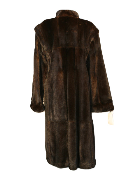 Mahogany Mink Fur Coat Reversible to Suede
