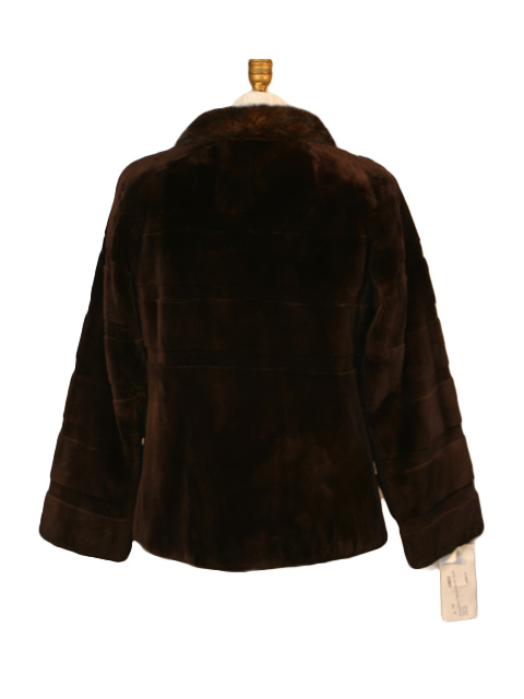 Feraud Brown Sheared Beaver Jacket