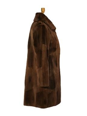 Sheared Muskrat Fur Stroller