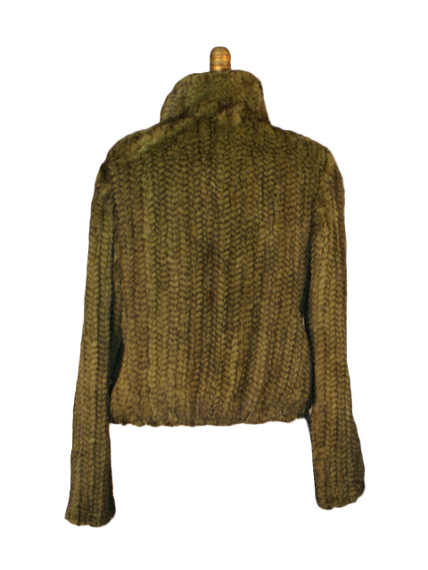 Green Knitted Mink Jacket