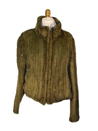Mink Fur Knitted Jacket