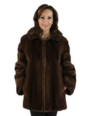 Demibuff Mink Fur Zipper Jacket