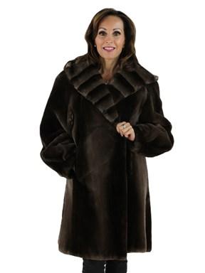 Phantom Sheared Beaver Fur Coat with Hood