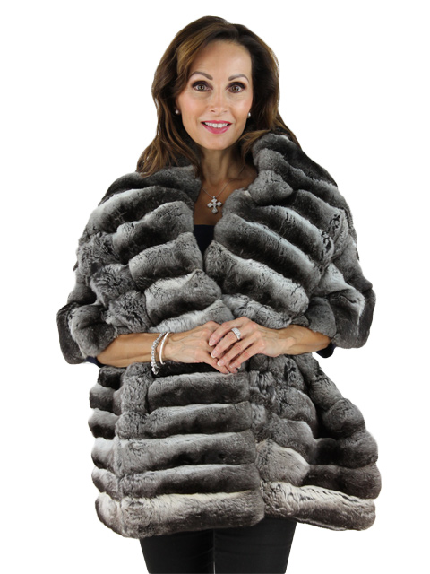Natural Chinchilla Fur Stole