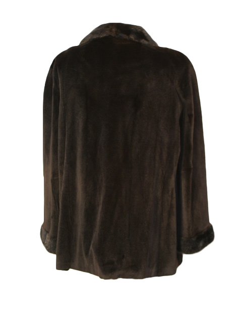 Black Sheared Mink Fur Jacket