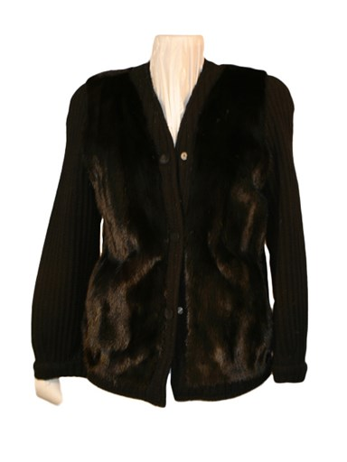 Ranch Mink Fur Knit Jacket
