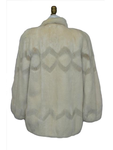 Tourmaline & Blush Mink Fur Jacket