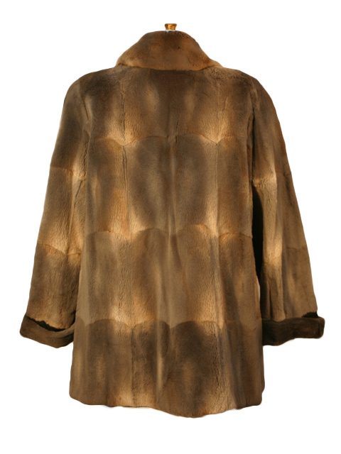 Muskrat Fur Jacket Women S Xlarge Greige Estate Furs