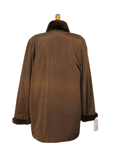 Brown Taffeta with Nutria Liner