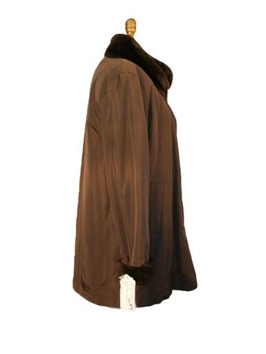 Taffeta Jacket w/ Nutria Fur Liner