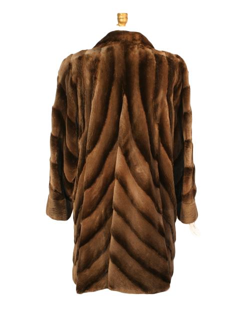 Brown Sheared Beaver Stroller
