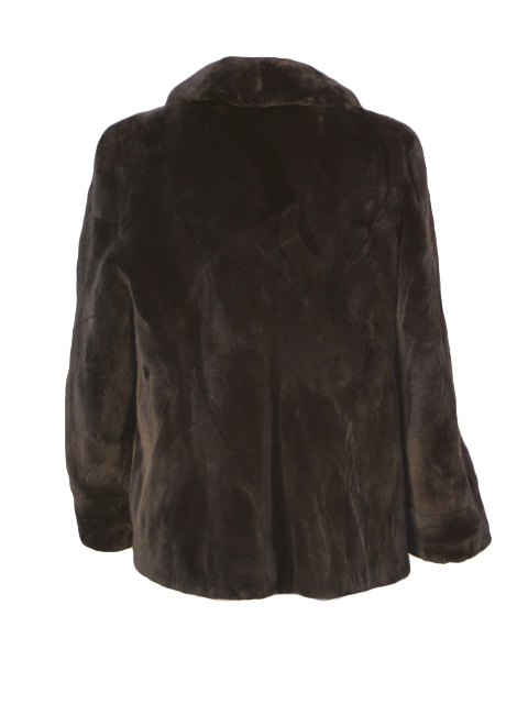 Black Sheared Beaver Section Jacket