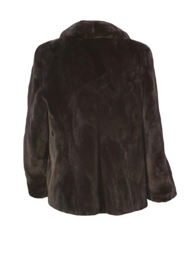 Sheared Beaver Fur Section Jacket