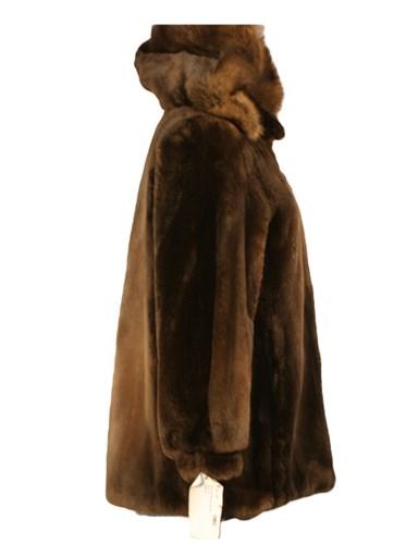Sheared Beaver Fur Jacket w/ Detachable Hood