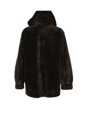 Sheared Beaver Fur Parka w/ Detachable Hood
