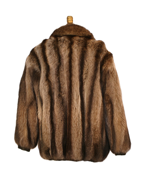 Raccoon Fur Jacket Rev to Leather