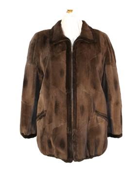 Muskrat Fur Reversible Jacket