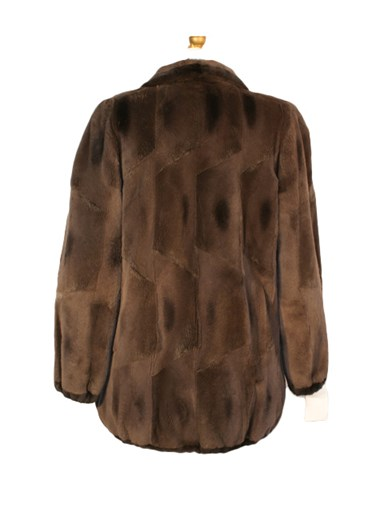 Muskrat Fur Reversible Jacket