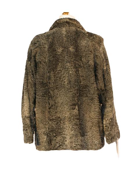 Grey Persian Lamb Fur Jacket