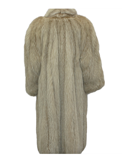 Amber Fox Fur Coat