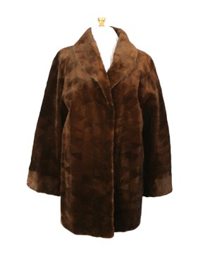 Sheared Mink Fur Sections Stroller