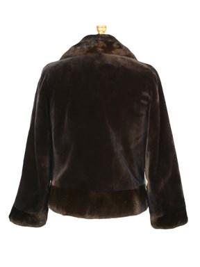 Sheared Mink Fur Jacket w/ Mink Trim