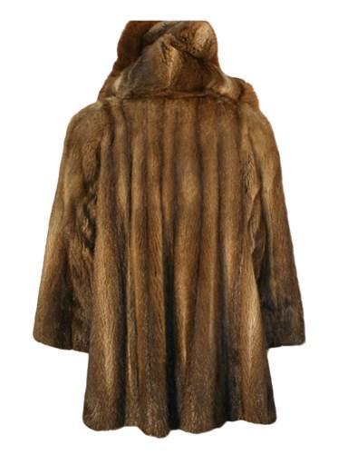 Muskrat Fur Stroller w/ Hood