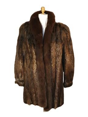 Beaver Fur Stroller w/ Fox Tuxedo Trim