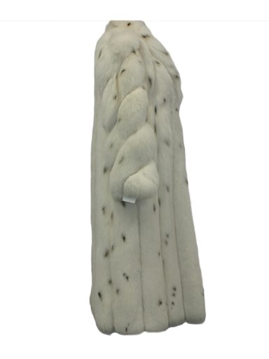 Spotted Fox Fur Coat