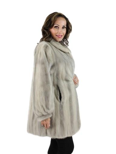 Cerulean Mink Fur Stroller