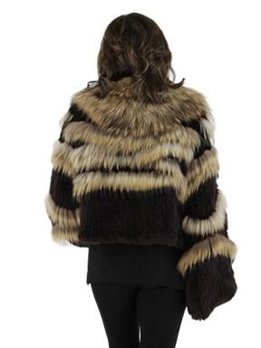 Knit Rex Rabbit Fur Jacket