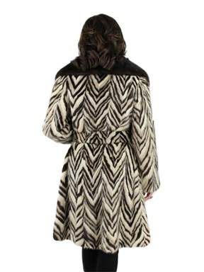 Vintage Two Tone Mink Fur Coat