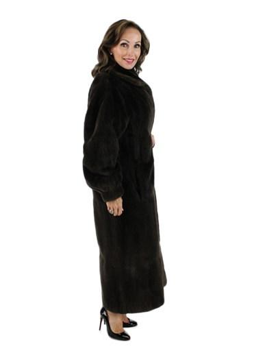 Sheared Nutria Fur Reversible Coat