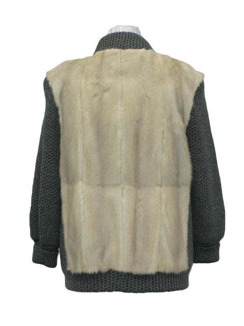 Azurene Mink Fur & Knit Jacket