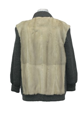 Mink Fur & Knit Jacket