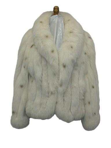 Women's white fox fur jacket