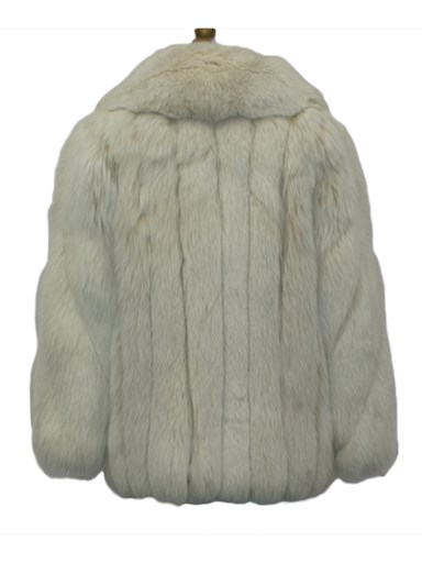 Women's blush fox fur jacket