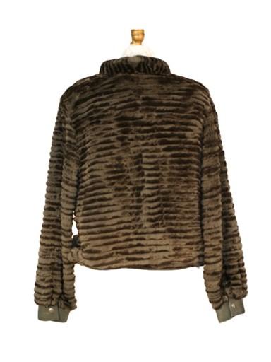 Dyed Rabbit Fur Jacket w/ Leather