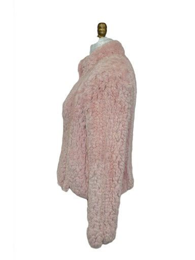 Knitted Sheared Beaver Fur Jacket