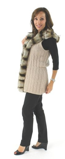 Cashmere and Rex Fur Vest