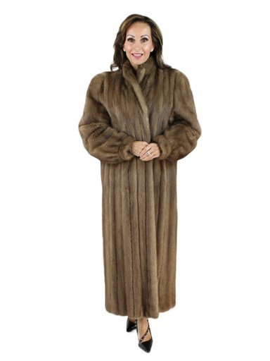 Pecan Mink Fur Coat