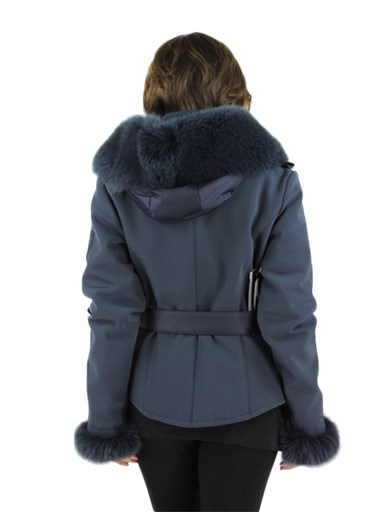 Fabric Fox Fur Parka