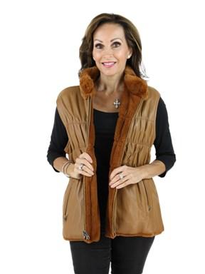 Rex Rabbit Fur & Leather Vest
