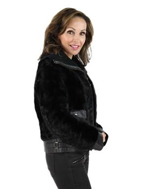 Ranch Mink Fur Section Jacket