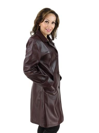 Burgundy Leather Stroller